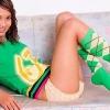 Ladyboy Lee in cute argyle socks & panties